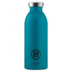 24Bottles Stone Atlantic Bay Clima Borraccia 500 ml Uso Quotidiano, Blu Acciaio Inossidabile