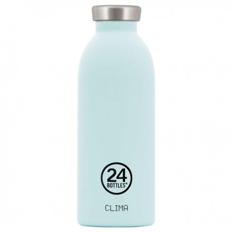 24Bottles Cloud Blue Clima Borraccia 500 ml Uso Quotidiano Blu, Acciaio Inossidabile