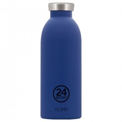 24Bottles Gold Blue Clima Borraccia 500 ml Uso Quotidiano Colore Blu Acciaio inossidabile