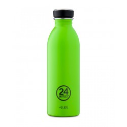 24Bottles Lime Urban Borraccia 500 ml Uso Quotidiano colore Verde Limone Acciaio inossidabile