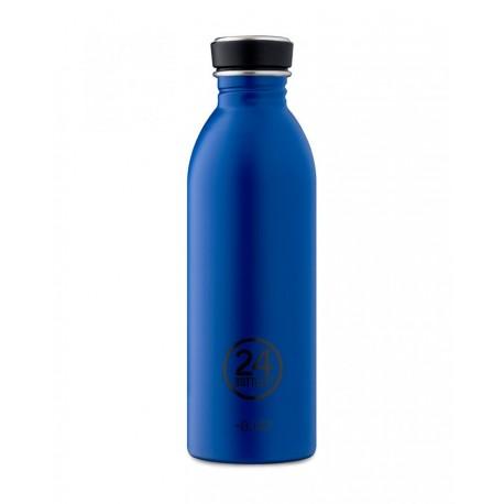 24Bottles Gold Blue Urban Borraccia 500 ml Uso Quotidiano Colore Blu Acciaio inossidabile