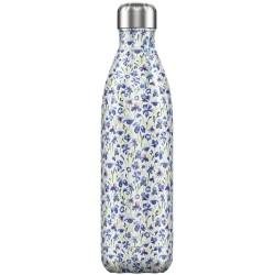 CHILLY'S Floral Iris Bottiglia 750 ml Acciaio Inox