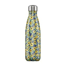 CHILLY'S Floral Sunflower Bottiglia 500 ml Acciaio Inox