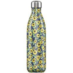 CHILLY'S Floral Sunflower Bottiglia 750 ml Acciaio Inox