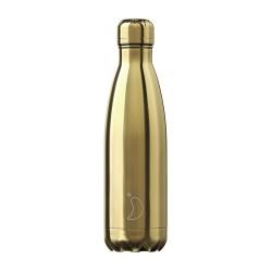 CHILLY'S Chrome Gold Bottiglia 500 ml Acciaio Inox